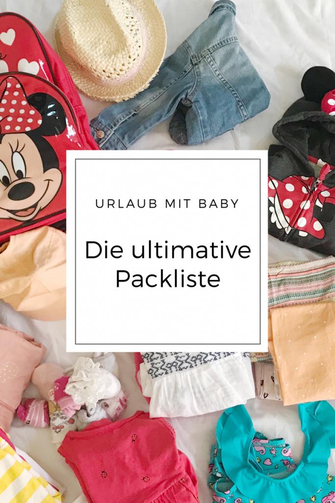 Packliste Reisen mit Baby